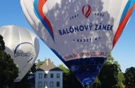 Start balónu od Zámku Radešín